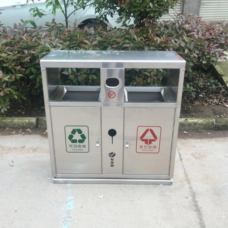 西藏阿里地区不锈钢垃圾桶-不锈钢垃圾桶厂家-洛阳中星