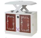 西藏拉萨市四色分类垃圾桶厂家-洛阳中星