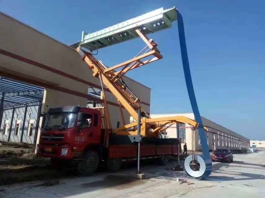丹寨县彩钢板安装可升至19米高