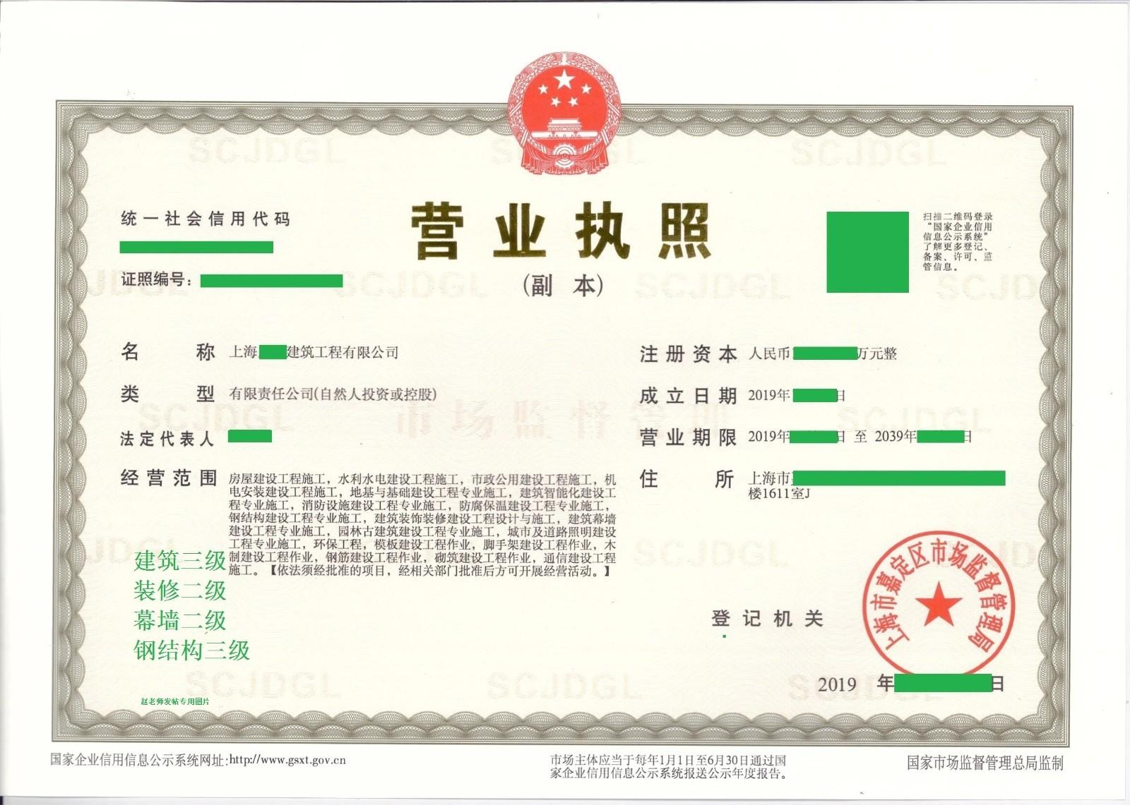 转让上海水利水电三级资质(备案制)